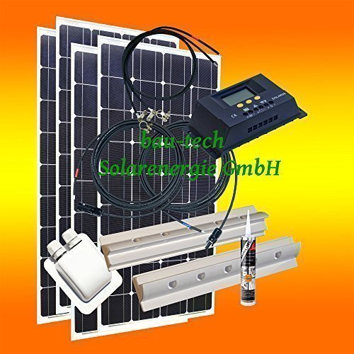 400 watt wohnmobil camping solaranlage 12 volt set pv solarpanel modul photovoltaik. Black Bedroom Furniture Sets. Home Design Ideas